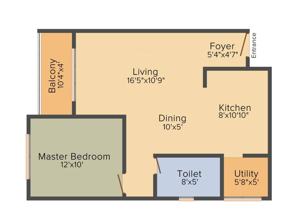 877 sqft floorplan