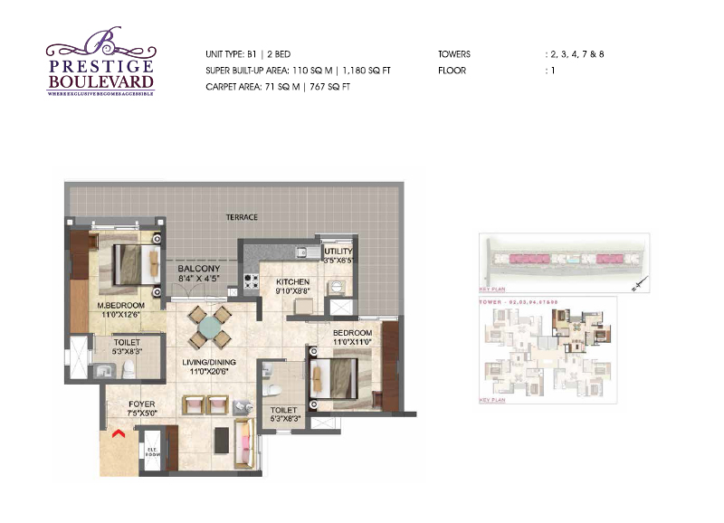 1180 sqft floorplan