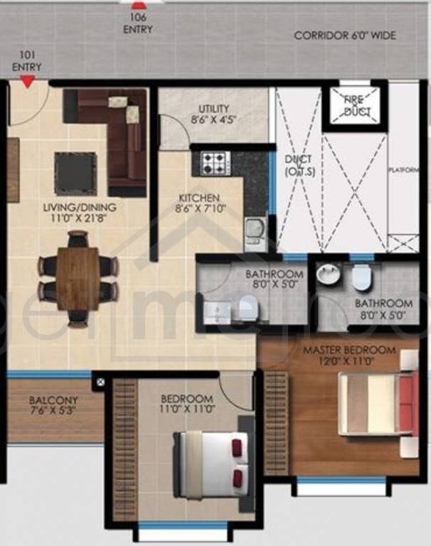 Vaishnavi Oasis - Floor Plan Photos