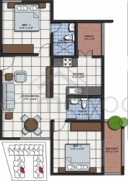 Virani Lake Mist - Floor Plan Photos