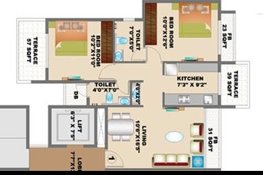 floorplan - Kaamdhenu Luxuria