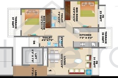 Floor Plan Photos - Kaamdhenu Luxuria